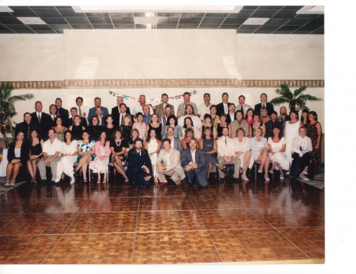 This is a group photo of our 20th reunion, July, 1998 on Marco.