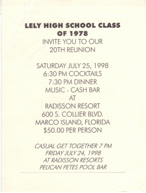 20 Year Reunion Invitation