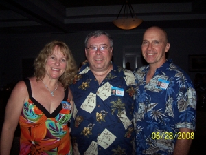 Celia Newby, Ed Beck, and Rick Roedel. Celia and Rick are now engaged thanks to this very website.