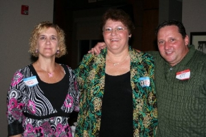 Deb Tucker, Deb Malinowski, and Daryl Jolly (LHS'79)