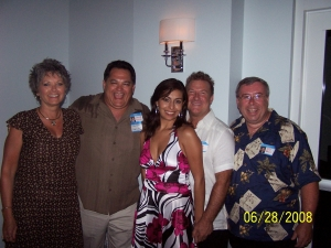 Linda Morris, Chuck Morris, Monica (Tims GF), Tim Fell, and Ed Beck